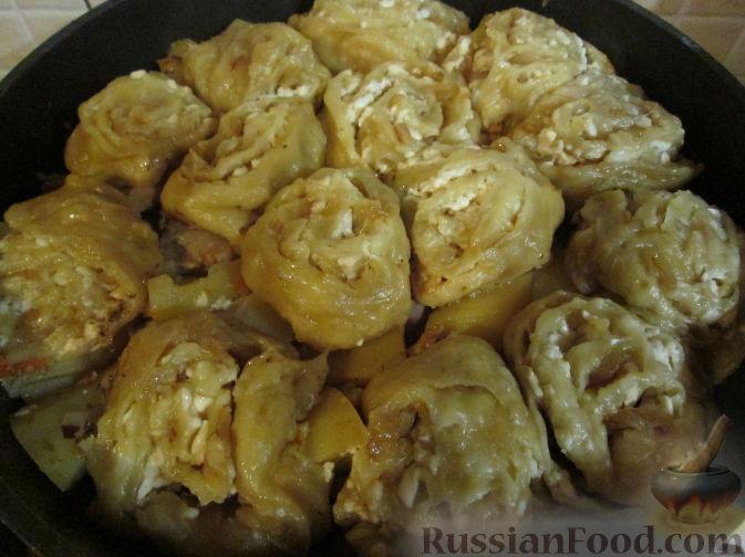 штруделя с картошкой и мясом рецепт с фото
