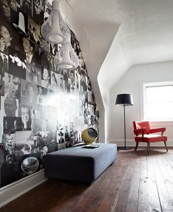делаю декор стены из черно-белых картинок жизнь рисовал, писал