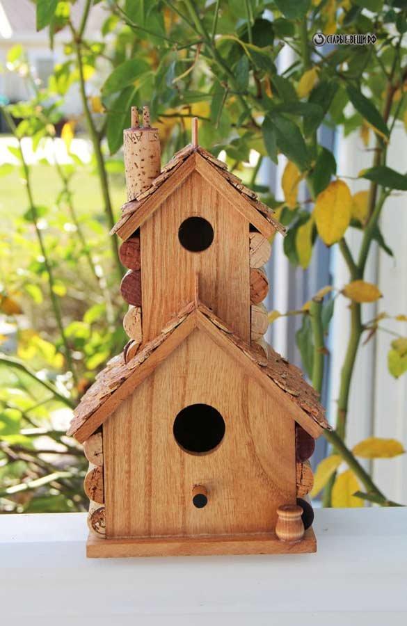 Домик для птиц сделанный своими руками