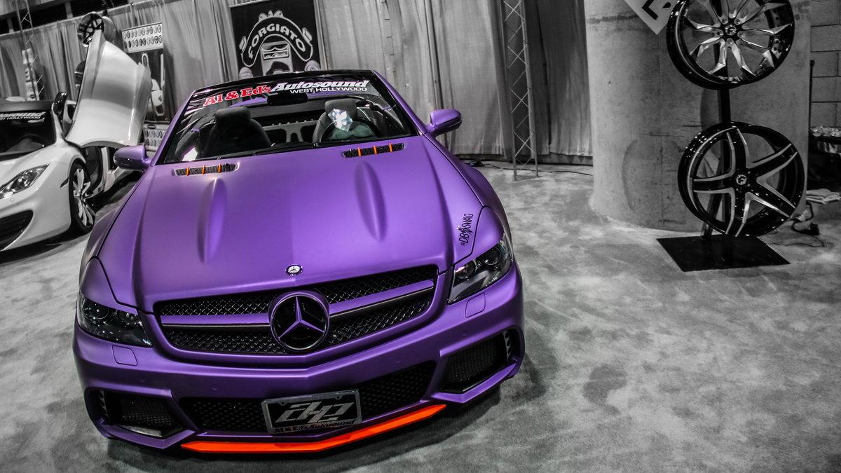 Фиолетовая открытка с машиной, урока
