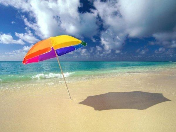 Морское побережье зонт у моря
