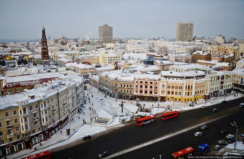 зимняя Казань — столица Татарстана