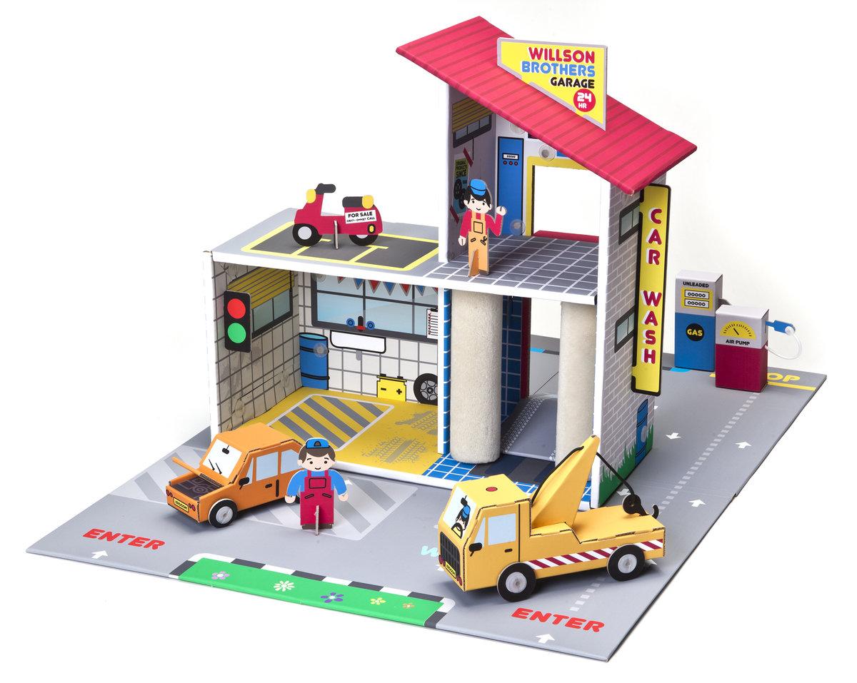 Картинка детский гараж