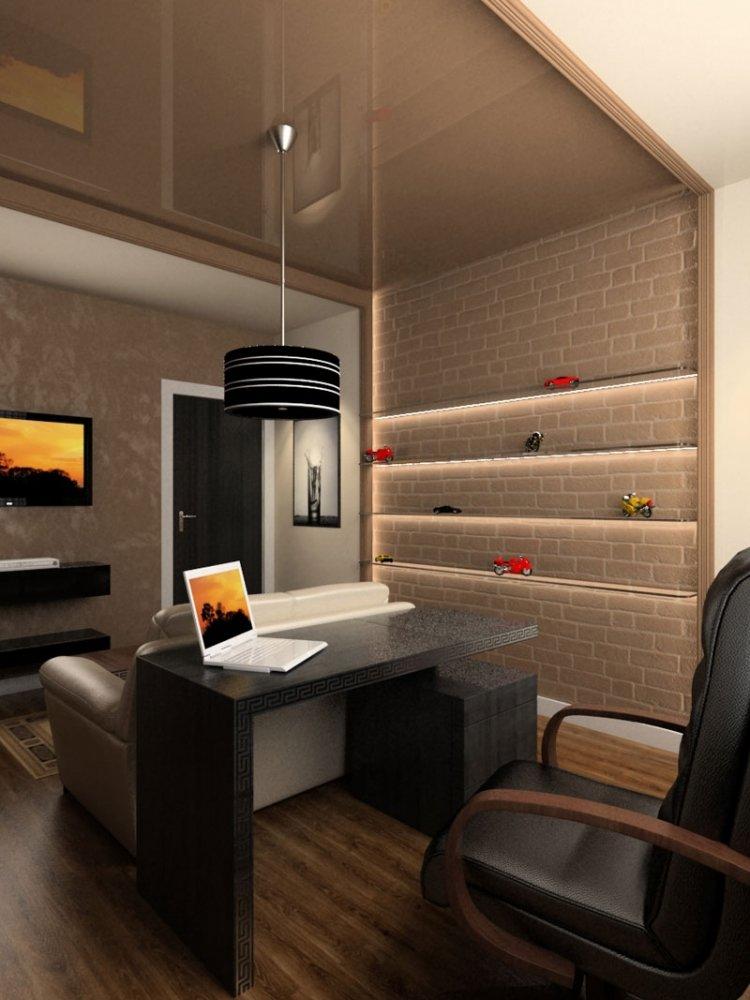 Достаток света в домашнем кабинете обеспечивает хорошую организация рабочего процесса