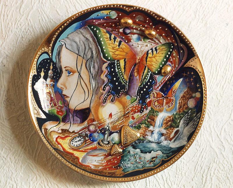 Тарелки ручная роспись