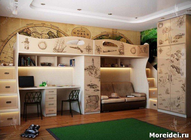 Дизайн детской комнаты на 3 детей фото