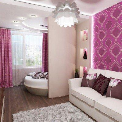 Спальня и гостиная в одной комнате  как разделить