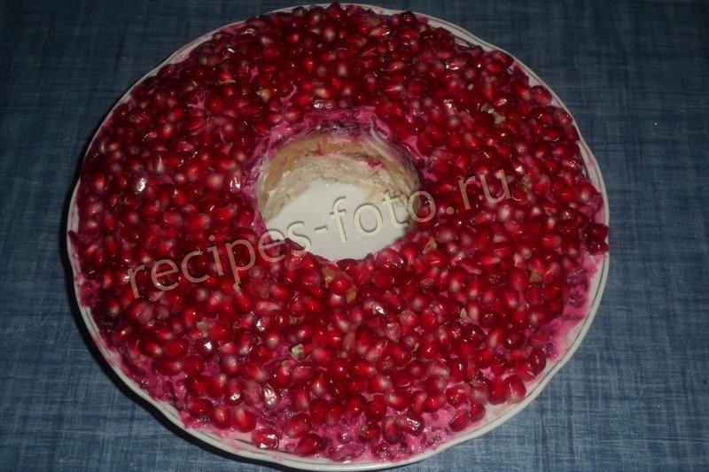 Пошаговое фото салата гранатовый браслет