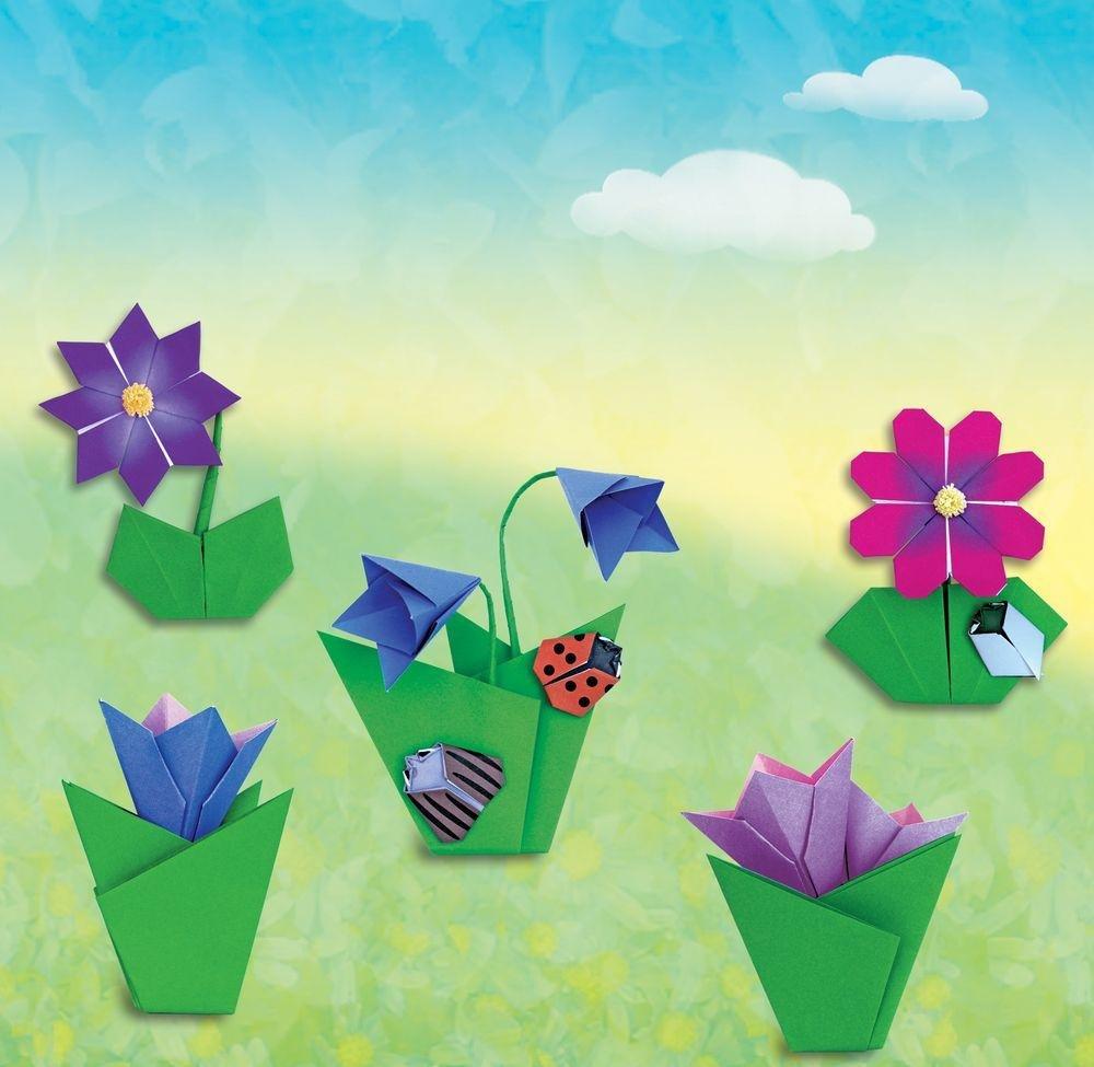 Поделка картинка с цветами