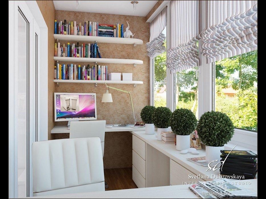 Превращаем нежилой балкон в шикарный кабинет - идеи дизайна .