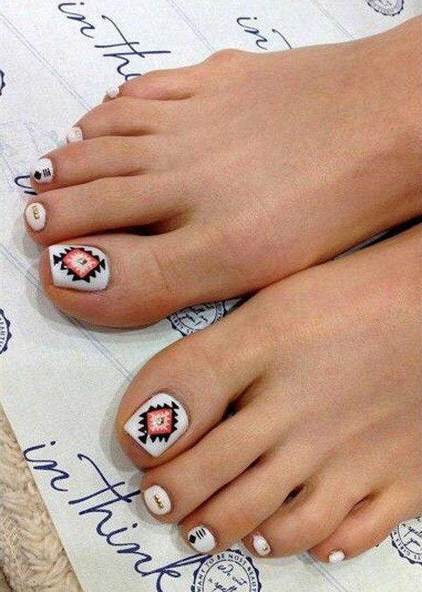 Фото дизайн ногтей ноги