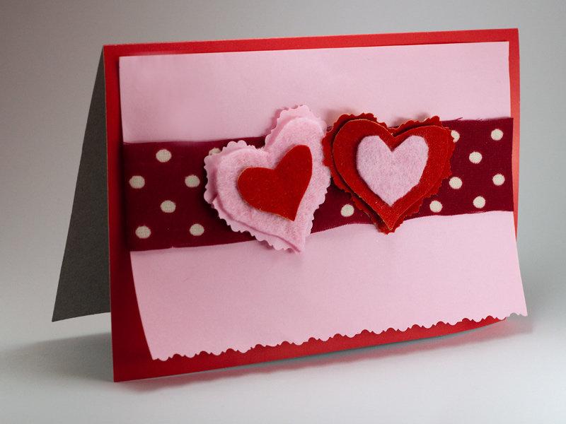 Как делать открытку на день влюбленных