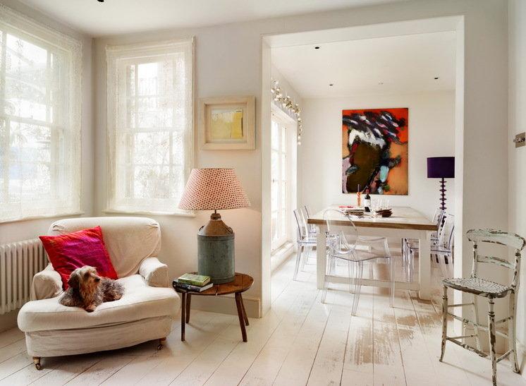 Дизайн интерьера с белой мебелью фото