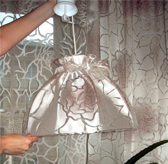 Люстра своими руками фото из ткани под старину
