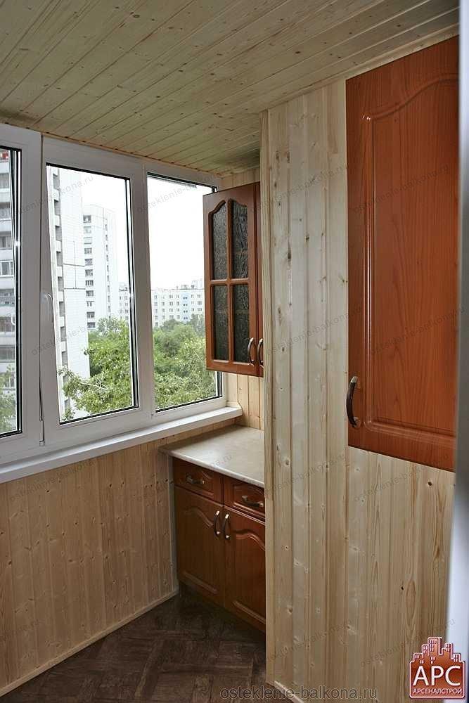 Отделка балконов и лоджий различными материалами. фото и вид.