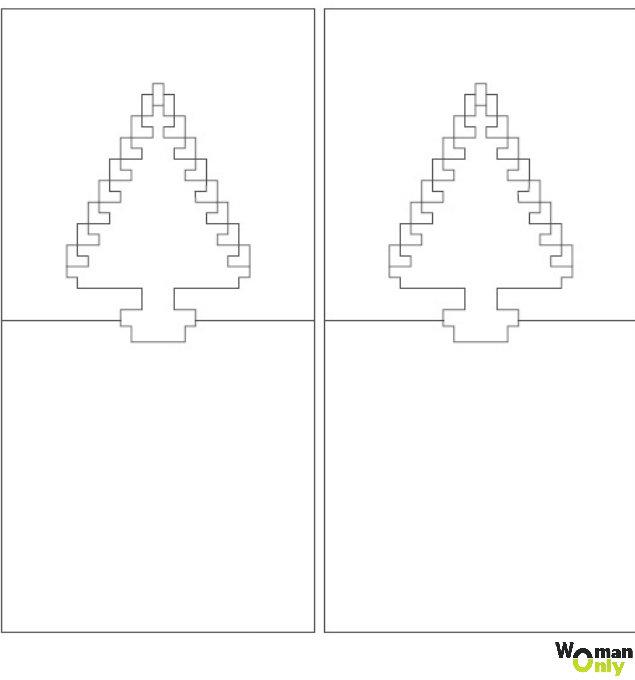 Перец прикольные, открытка с елочкой шаблон