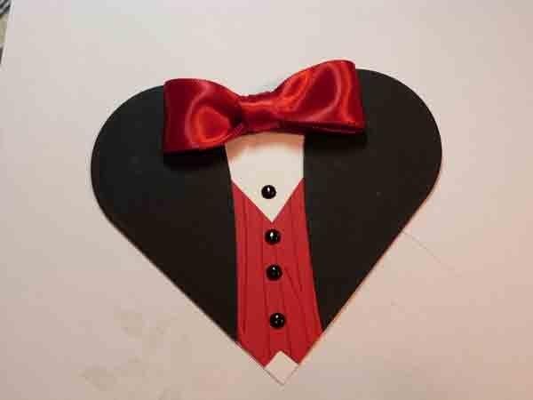 Открытки февраля, открытка для папы в виде рубашки сердечка