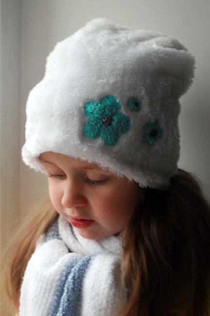 Зимняя шапка для девочек сшить 19