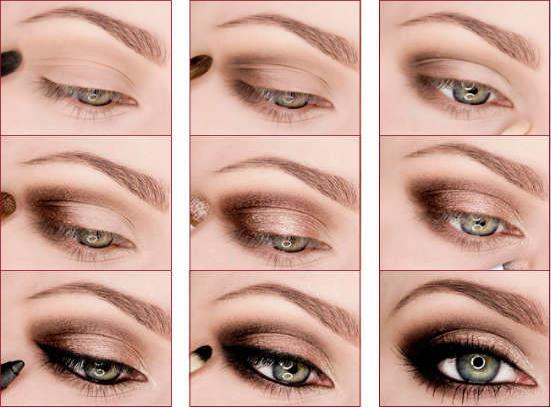 Макияж для каре зеленых глаз пошаговое фото на каждый день 93