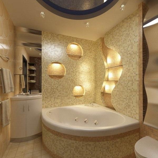 смотреть дизайн ванных комнат с угловой ванной день