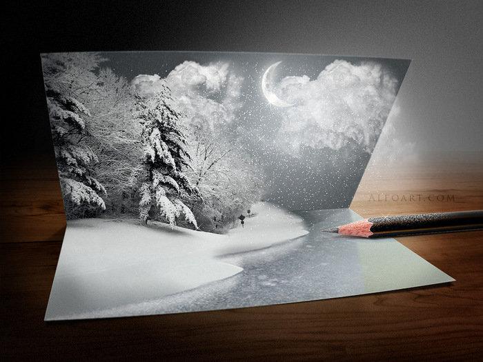 Сделать открытку в фотошопе своими руками, красивые цветы