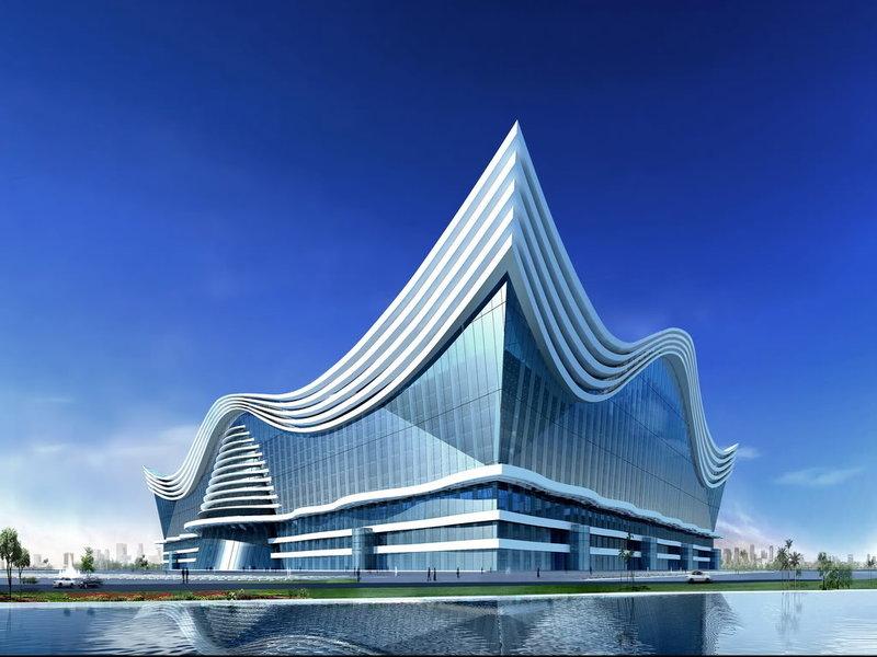 Современная китайская архитектура Дневник Максим Боголепов New Century Global Centre - проект