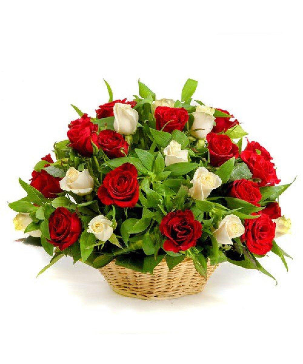 Букет, букет цветов корзинка фото