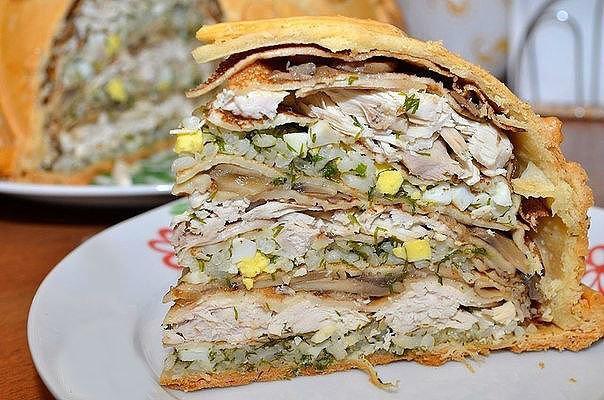Курник с курицей рецепт с фото пошагово