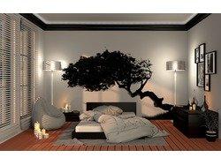 Спальня с нотками природы