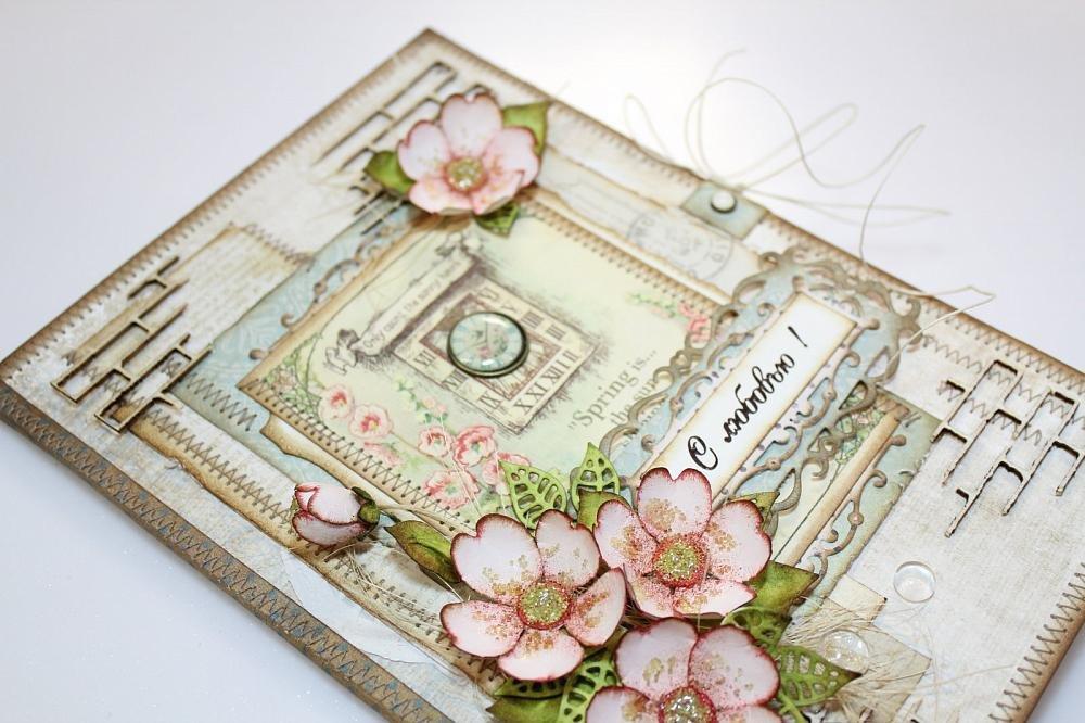 Техника изготовления открытки ручной работы