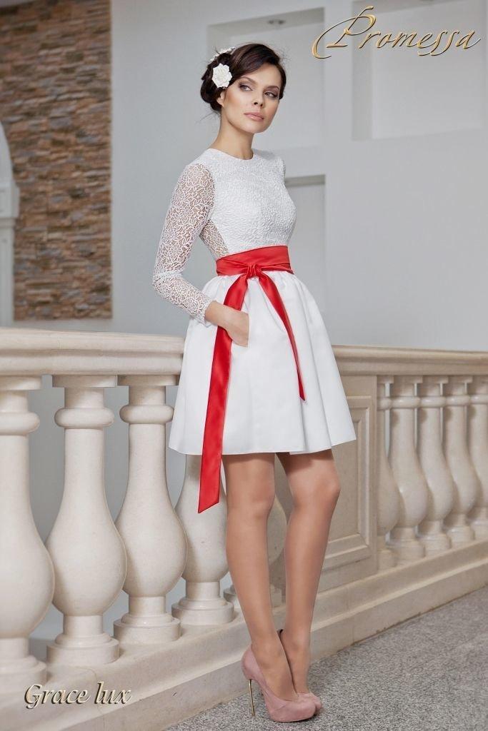 Короткое свадебное стильное платье