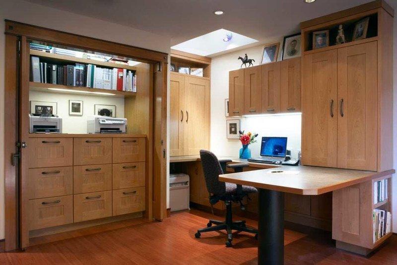 Стильный и современный дизайн домашнего кабинета