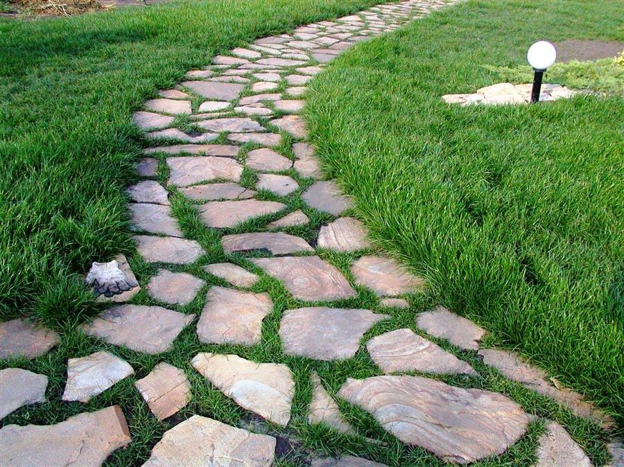 садовые дорожки из дикого камня