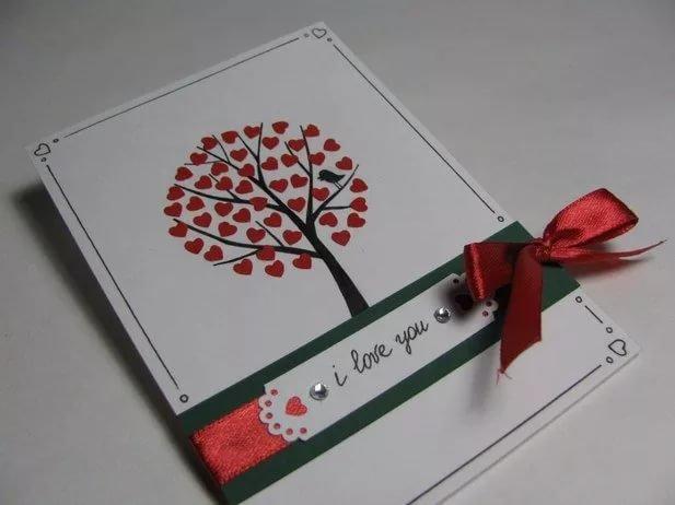 Как сделать красивую открытку любимому мужчине, рабочий