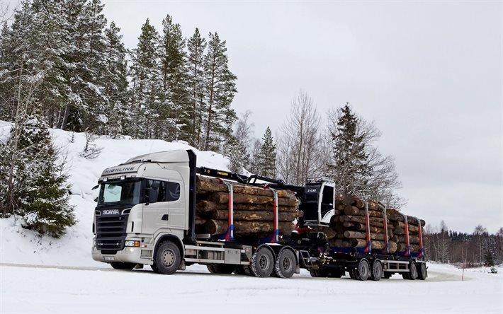 Scania R730 6x4 Highline Timber Truck