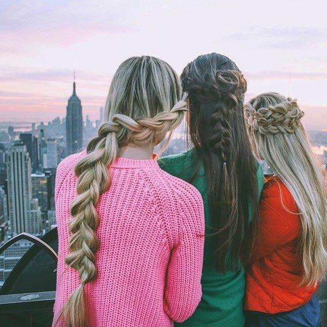 картинки подруг для длинных волос всего представителей этой