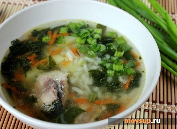 суп с сайрой и рисом рецепт с фото