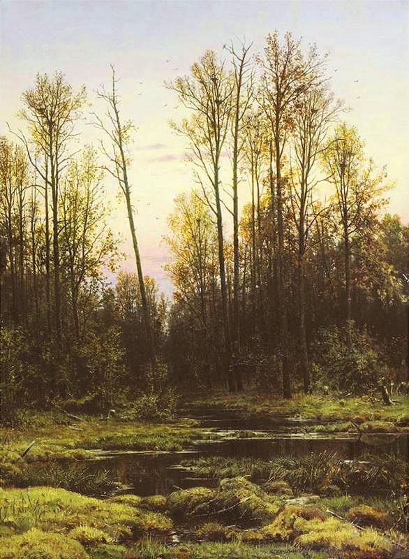 Иван Шишкин.  Лес весной.  Ivan Shishkin.  Wood in the spring.