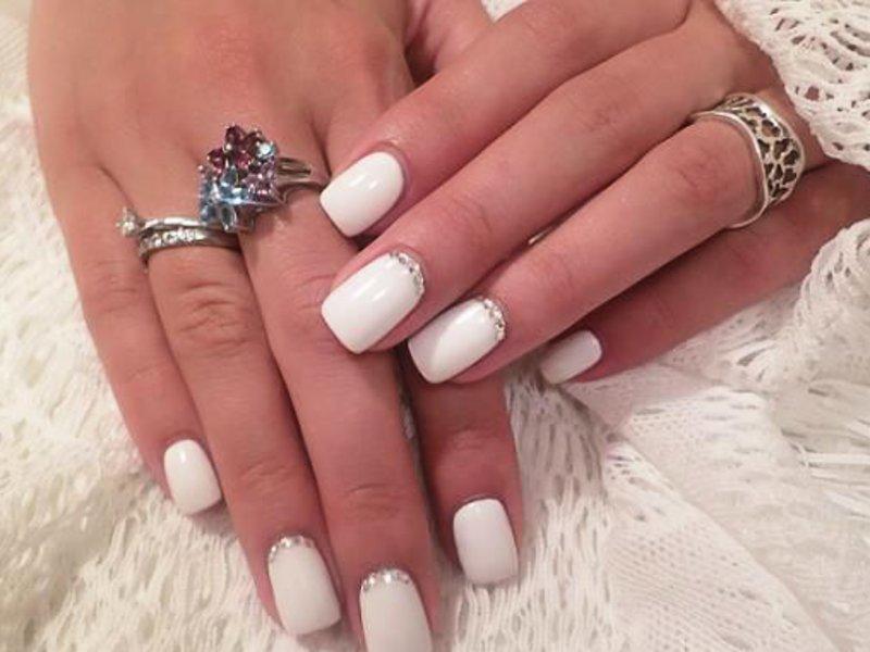 Белый цвет дизайн ногтей фото