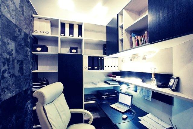 контрастный черно белый кабинет