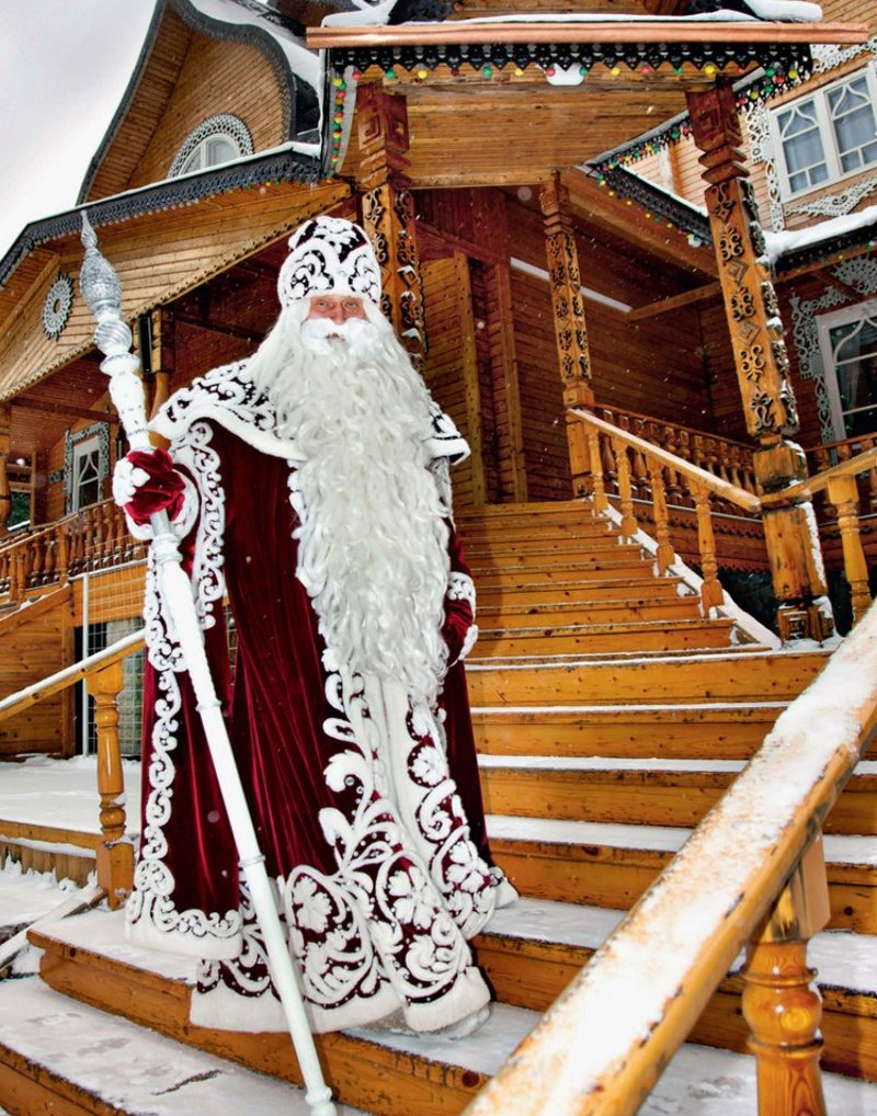 Дед Мороз в своей резиденции