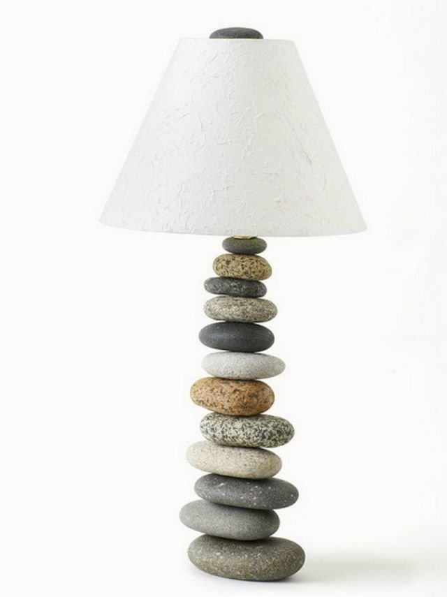 своими руками из камня светильник