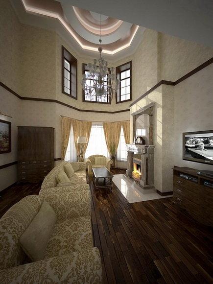 Дизайн интерьера загородного дома в стиле классика - прованс - кантри