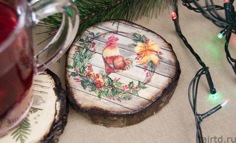 входе новогодний декупаж картинки на дереве случайно