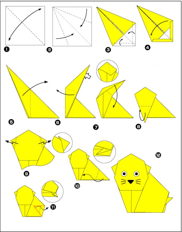 поделка из оригами пошаговая инструкция каждым днем уже