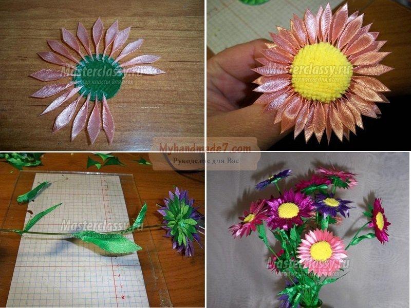 Цветы из разных материалов своими руками фото 804