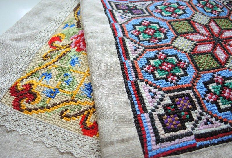 Вышивка крестом подушки своими руками