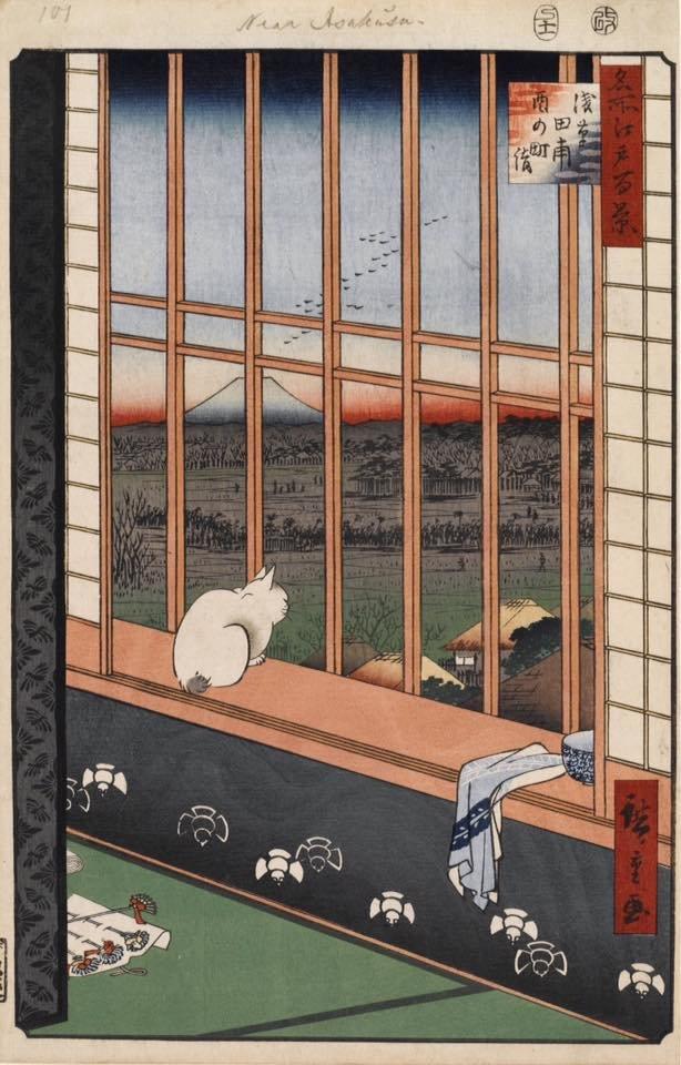 Утагава Хиросигэ из серии Сто знаменитых видов Эдо