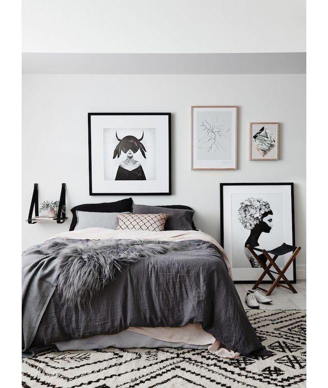 серая спальня в скандинавском стиле карточка пользователя