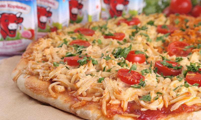 Пицца с плавленным сыром рецепт с фото